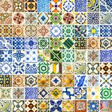Collection of different patterns tiles Royalty Free Stock Image