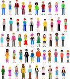 Collection of different people vector illustration