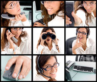 Collection of different poses of professional Stock Photos