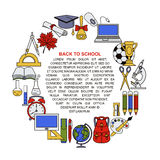 Collection of different school objects. Stock Image