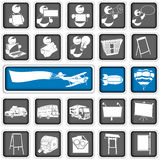 Advertising icons Stock Image