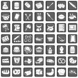 Baking icons. A collection of different squared baking icons stock illustration