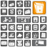 Business icons Stock Images