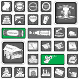Business icons 2. A collection of different squared business icons, part 2 Stock Photo