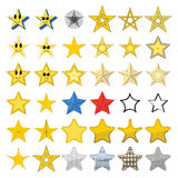 Collection of different stars Stock Photography