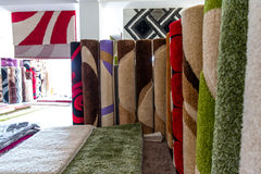 Collection Of Different Traditional Rugs Royalty Free Stock Photography