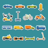 Collection of transport icons Royalty Free Stock Photos