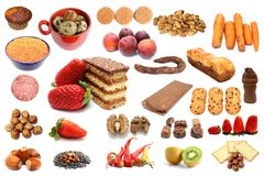 Collection of different types of food Stock Photos