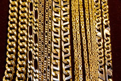 Golden chains Royalty Free Stock Photography