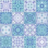 Collection of different vintage tiles Royalty Free Stock Photography