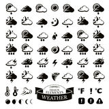 Collection of different weather icons Stock Image