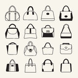 Collection of different  Women and men handbags Stock Photography
