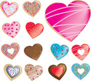 Collection of diiferent types of donuts, cookies or biscuits in Stock Images
