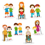 Collection Of Disabled People vector illustration