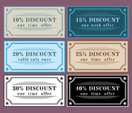 Collection  discount labels Royalty Free Stock Images