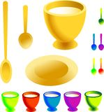 Collection of dishware menu template Royalty Free Stock Photo