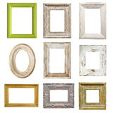 Collection of Distressed Picture Frames Stock Photography
