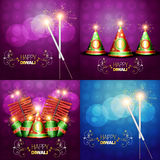 Collection of diwali festival background illustration. Vector collection of diwali festival background illustration with crackers Royalty Free Stock Images