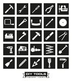 Crafting tools Square Black Icon Set royalty free illustration