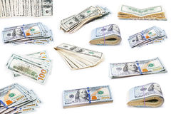 Collection dollars. Isolated on white background Royalty Free Stock Images