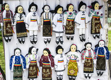 Collection of dolls dressed in traditional costu Stock Photography