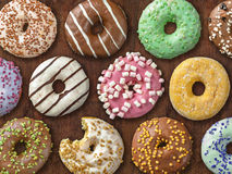 Collection of donuts Stock Image
