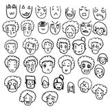Collection doodle of cartoon character Royalty Free Stock Photos