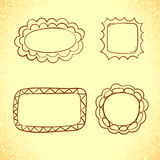 Collection of doodle frames. Royalty Free Stock Photography