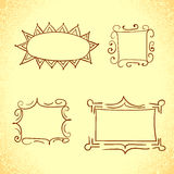 Collection of doodle frames. Royalty Free Stock Images