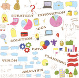 Collection of doodle infographics elements Royalty Free Stock Image