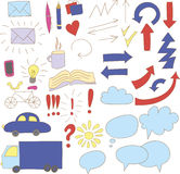 Collection of doodle infographics elements Stock Photography