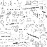 Collection of doodle infographics elements Royalty Free Stock Photo