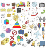 Collection of doodle infographics elements Royalty Free Stock Photography