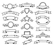 Collection of doodle ribbons Royalty Free Stock Photography