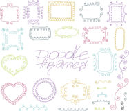 Collection of doodle vector frames Royalty Free Stock Photos