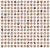 Collection of 225 doodled icons for every ocasion Stock Photography