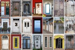 Collection of door images Stock Photos