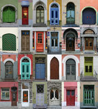 Collection of doors Royalty Free Stock Photography