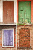 Collection of doors and windows Royalty Free Stock Image