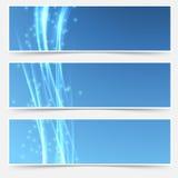 Collection douce d'en-tête de Web de vague de bruissement lumineux Photo stock