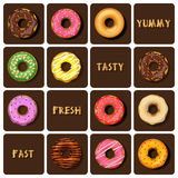 Collection of doughnuts Stock Photo