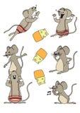 Collection drôle 1 de souris Images stock