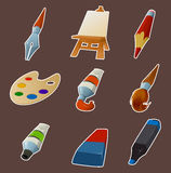 Collection of draw icons Royalty Free Stock Photography