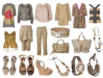 Collection Dress And Clothes Royalty Free Stock Photo