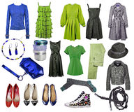 Collection dress and shoes stock photo