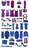 Collection of dress and shoes Royalty Free Stock Images