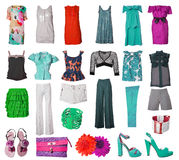 Collection of dress and shoes Stock Image