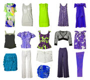 Collection of dress and shoes Royalty Free Stock Image
