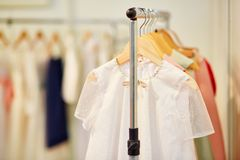 Collection of dresses for little bridesmaids Royalty Free Stock Image