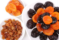 Collection of dried fruits Royalty Free Stock Images